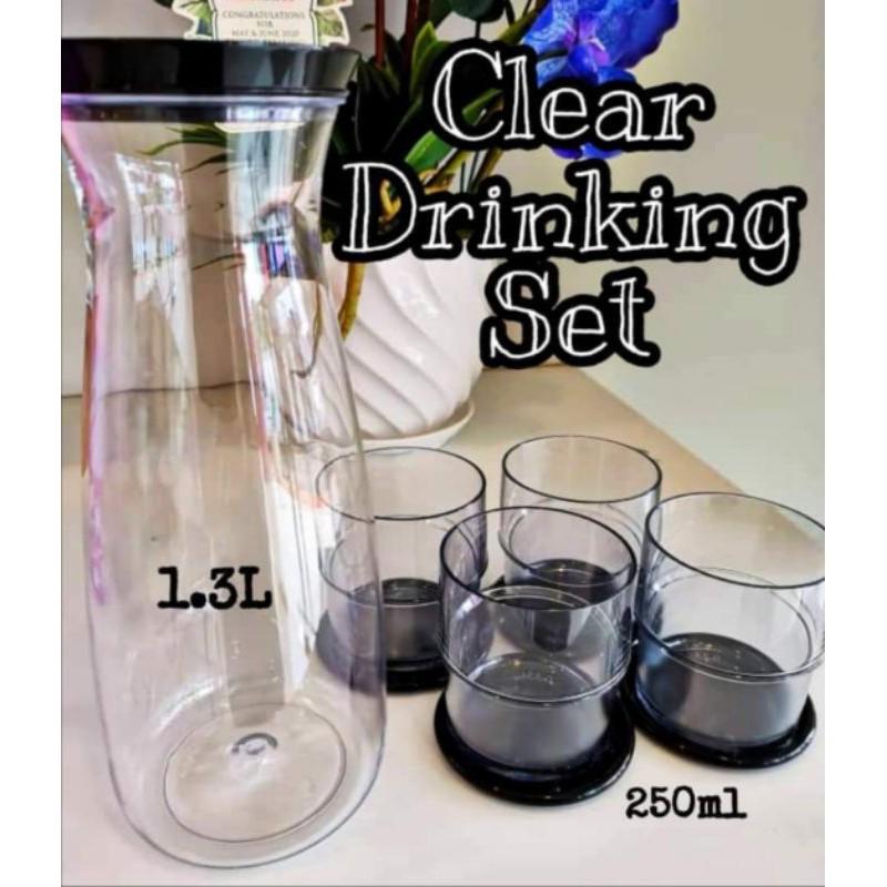 🔥Tupperware🔥 Clear Drinking Set