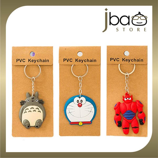 Doraemon Totoro Baymax Spiderman Key Chain Birthday Christmas Gift
