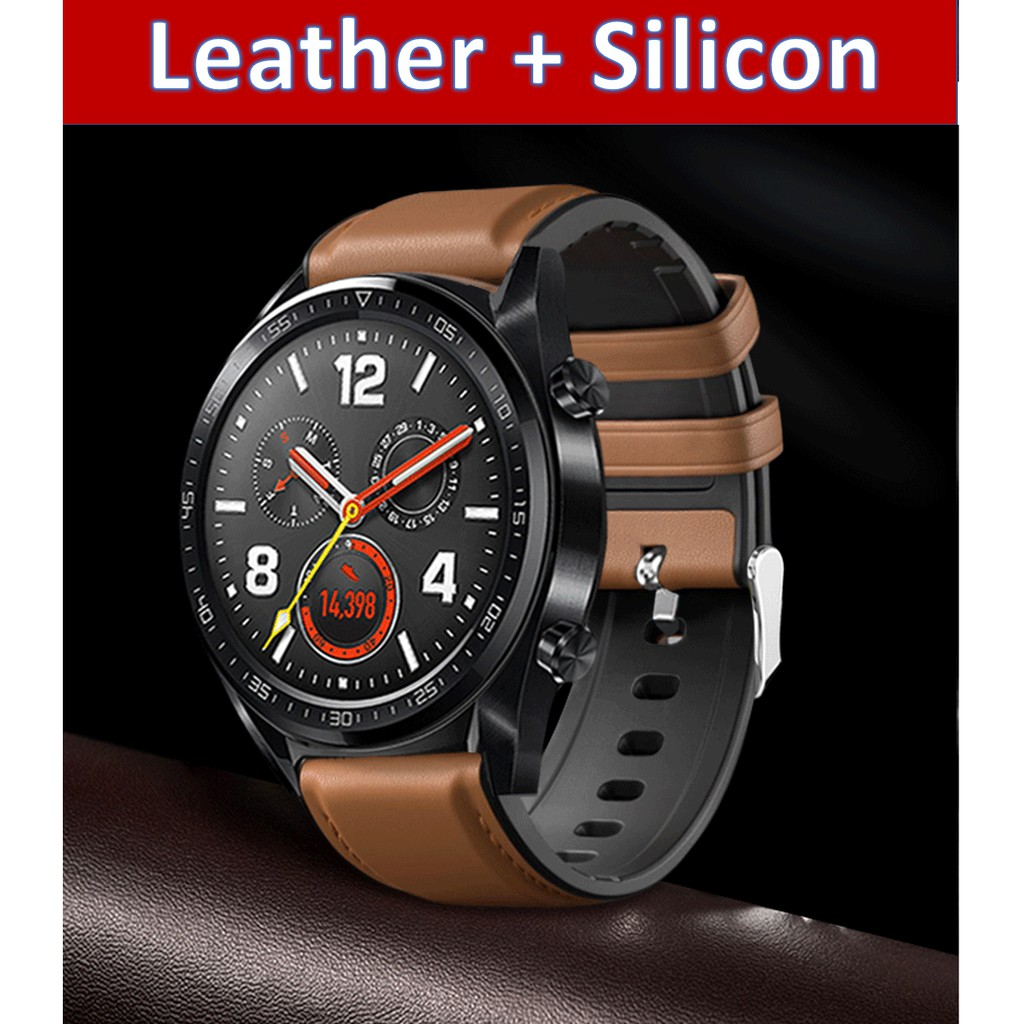 [SPECIAL] Huami Amazfit GTR/ Huawei Watch GT/GT2/Watch2 PRO/Honor Watch Magic Strap (Leather + Silicon) 20mm, 22mm Strap