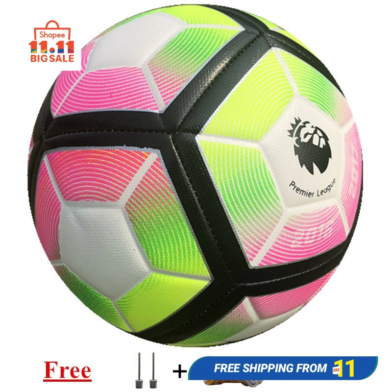 Bola Sepak size 5 Football ball Seamless Anti-slip Material PU Soccer