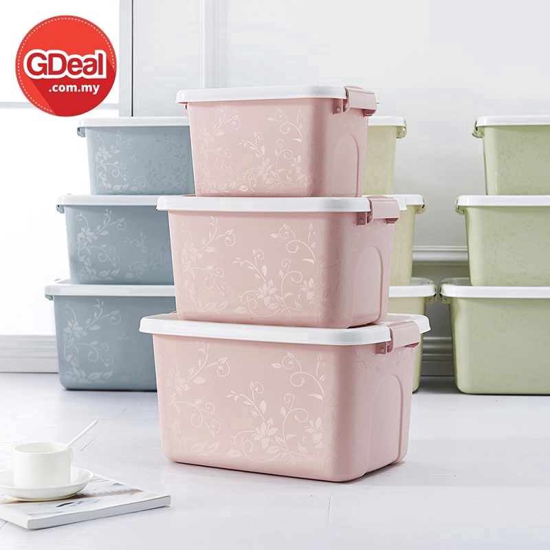 GDeal Waterproof Multi Purpose 3pcs Toys Plastic Container Dustproof Clothes Storage Box With Lid
