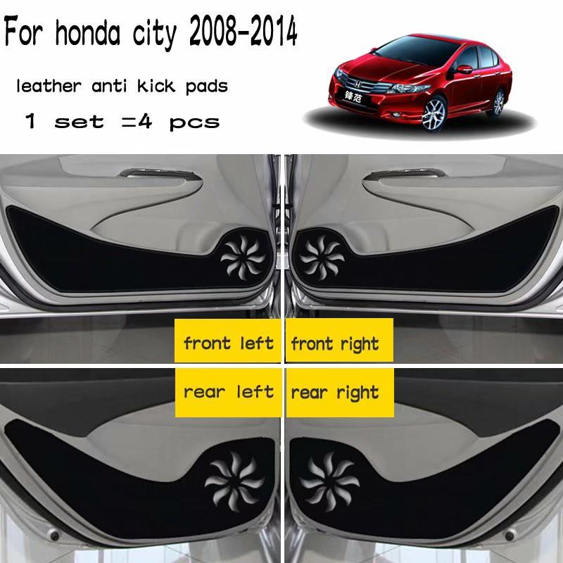 1set Car Cup Pads Holder For Honda Fit 09-11 Interior Red Door Mat Gate Slot Pad