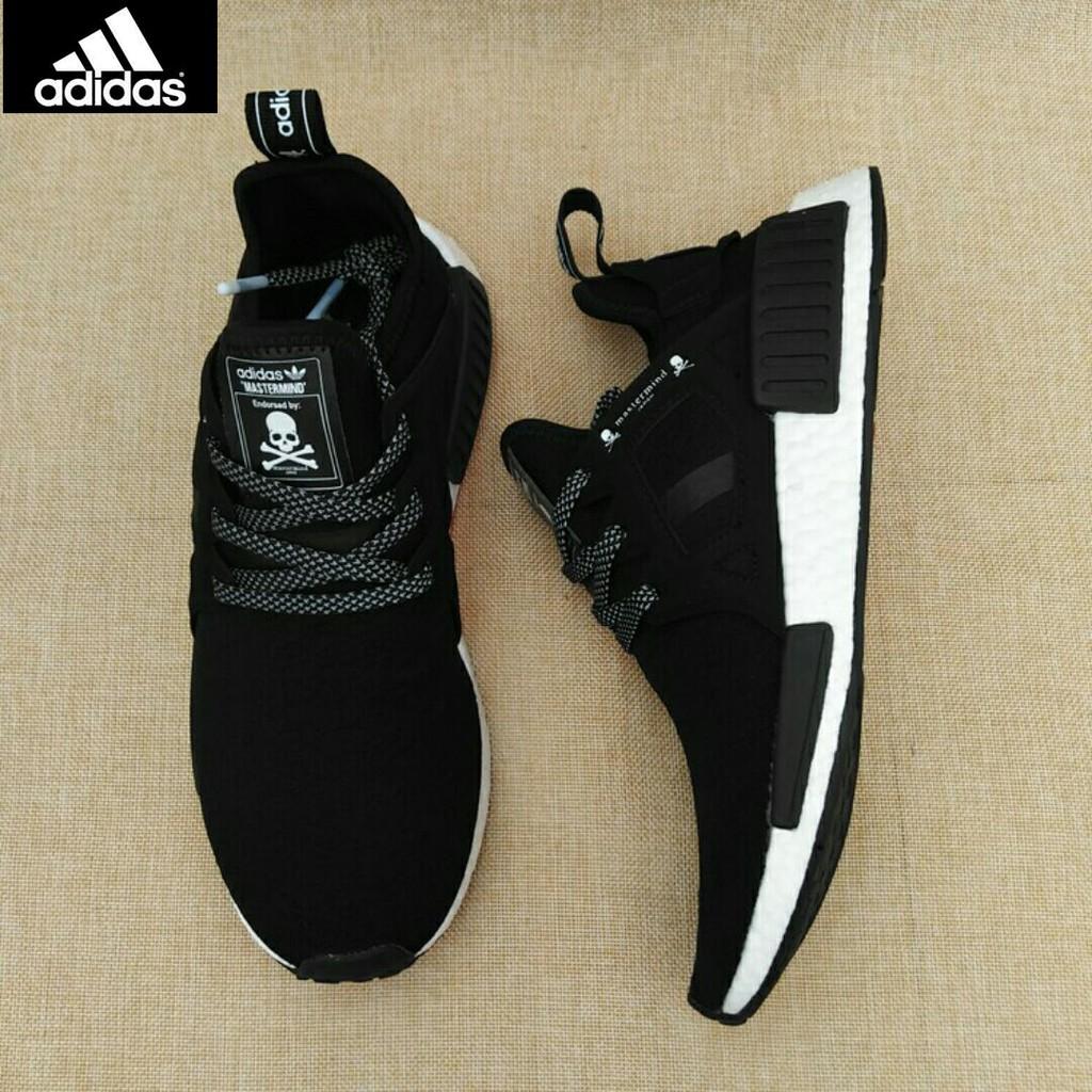 ed25860f4 100% Original Adidas NMD XR1 mastermind JAPAN MMJ BA9726 skull black white  men s