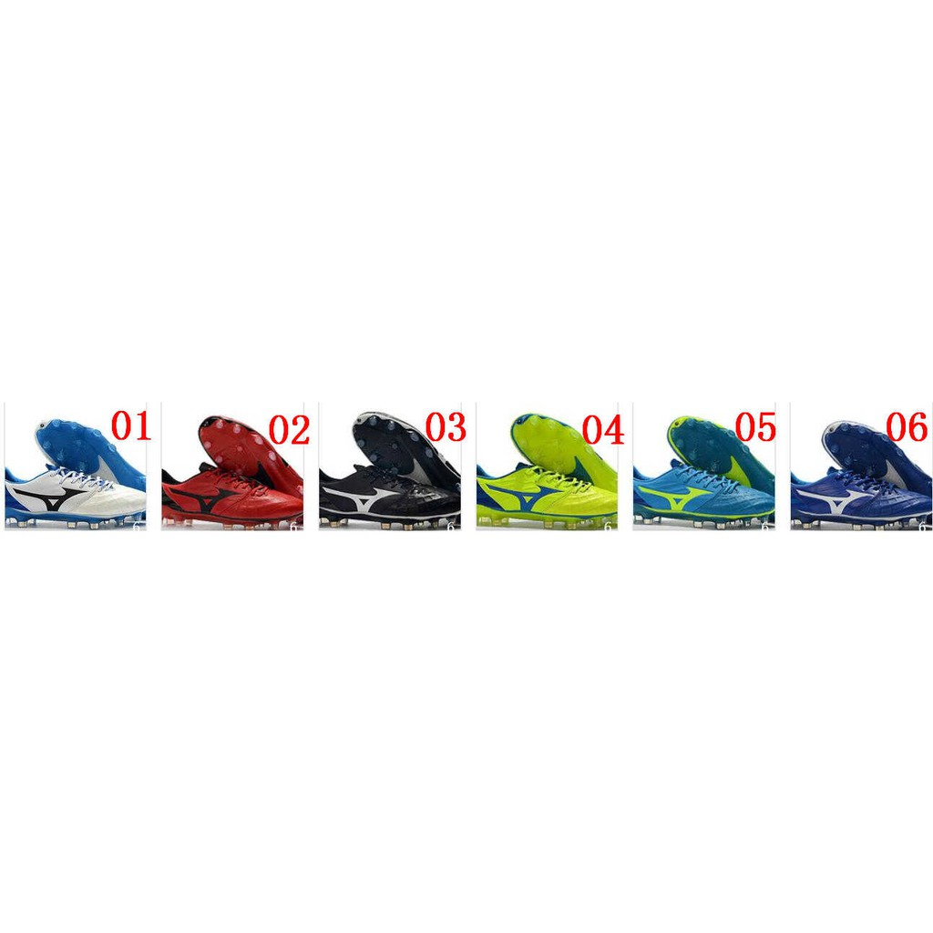 d29a460078 original Mizuno Rebula V1 FG white blue mens low top soccer shoe size 39-45
