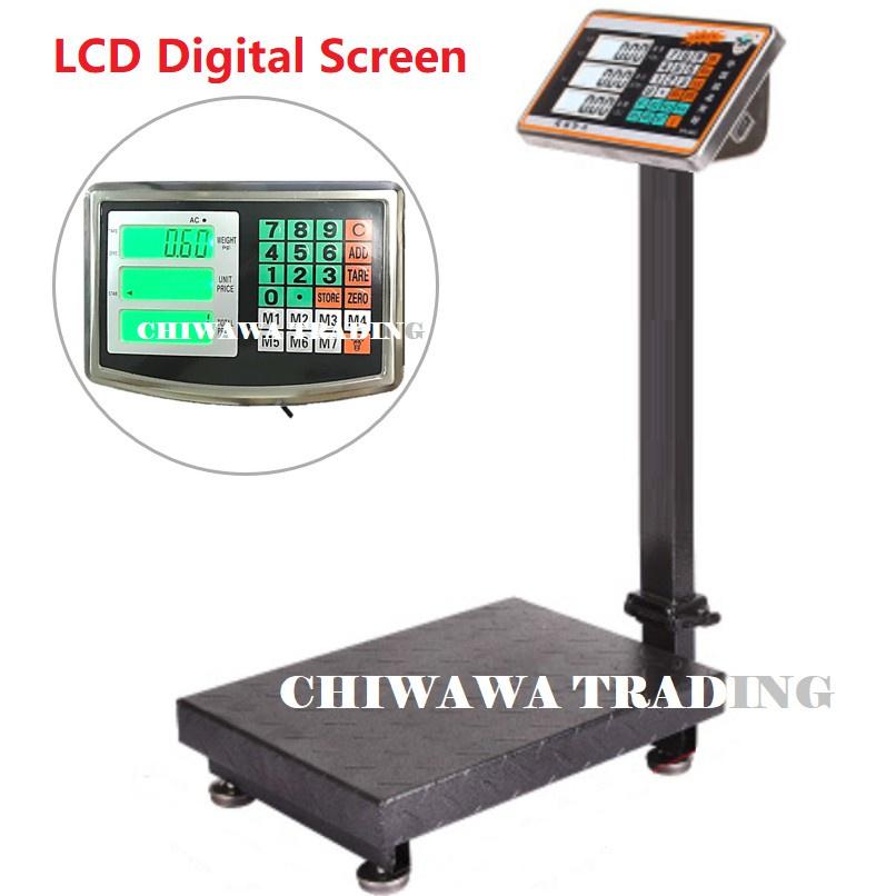 【Malaysia Plug】300kg Digital Price Computing Counting Weighing Standing Scale / Skala