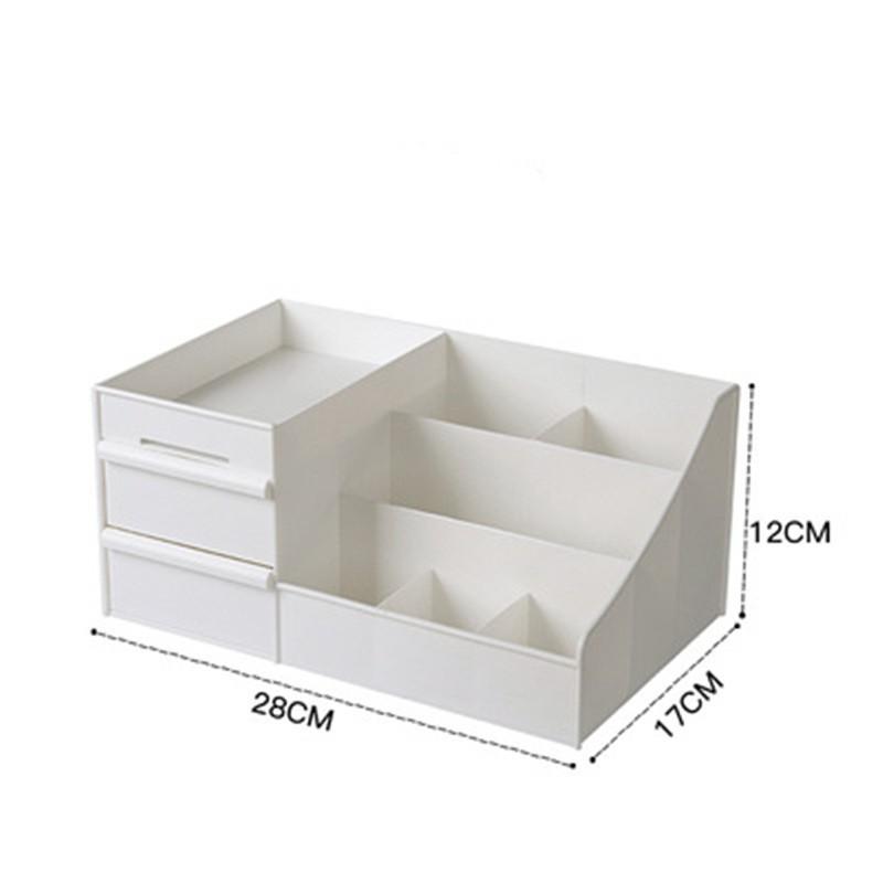 JK HOME Large Capacity Cosmetic Storage Box Makeup Organizer Makeup Storage skincare organizer