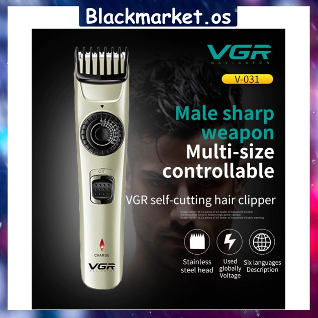 VGR V-031 Hair Clipper Hair Trimmer Shaver USB Rechargeable Waterproof Hair Style