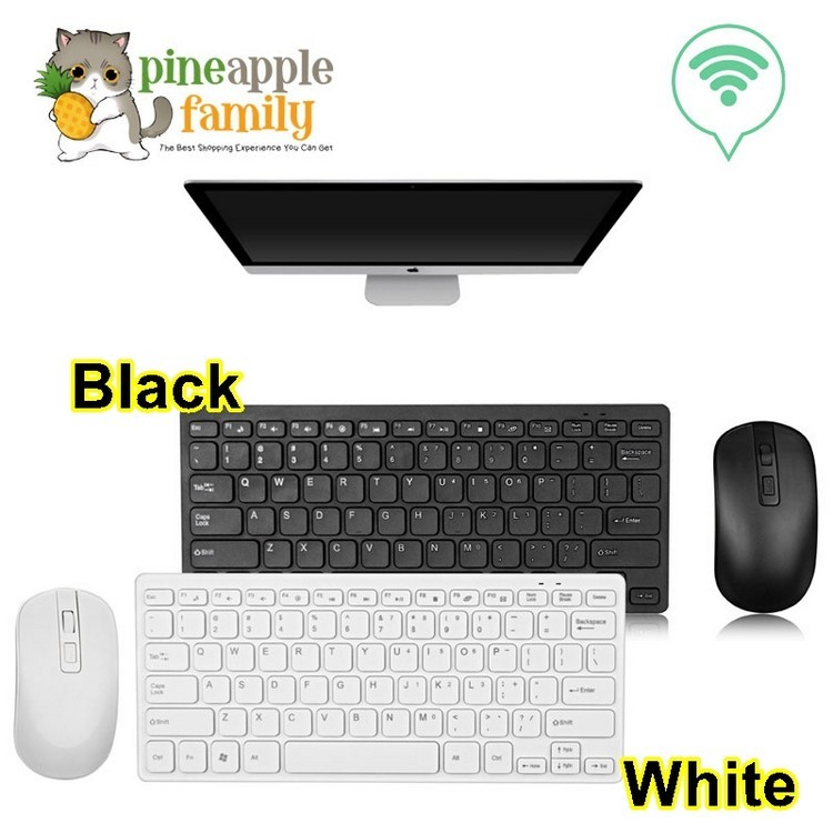 Ultra Slim Thin Design 2 4GHz Mini Wireless Keyboard Mouse for Home Office  PC Laptop Desktop Computer Keyboard Set