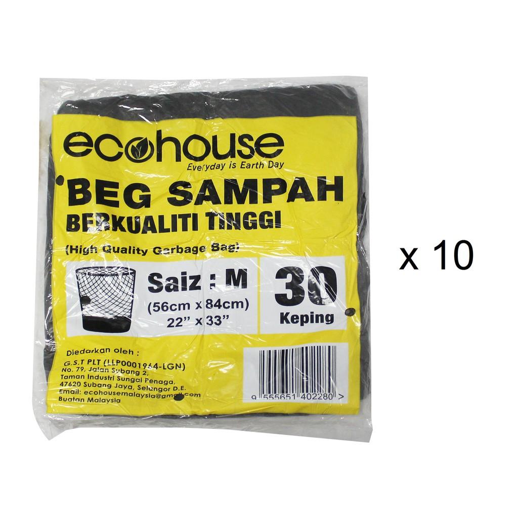 Ecohouse Garbage Bags - M (30 Pcs x 10)