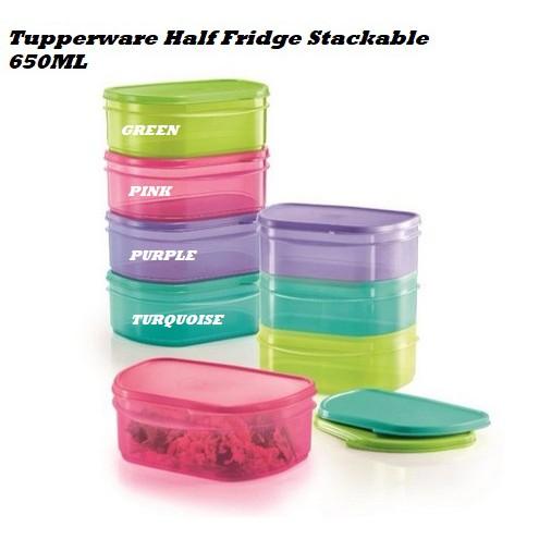 Tupperware Half Fridge Stackable 650ml (1)