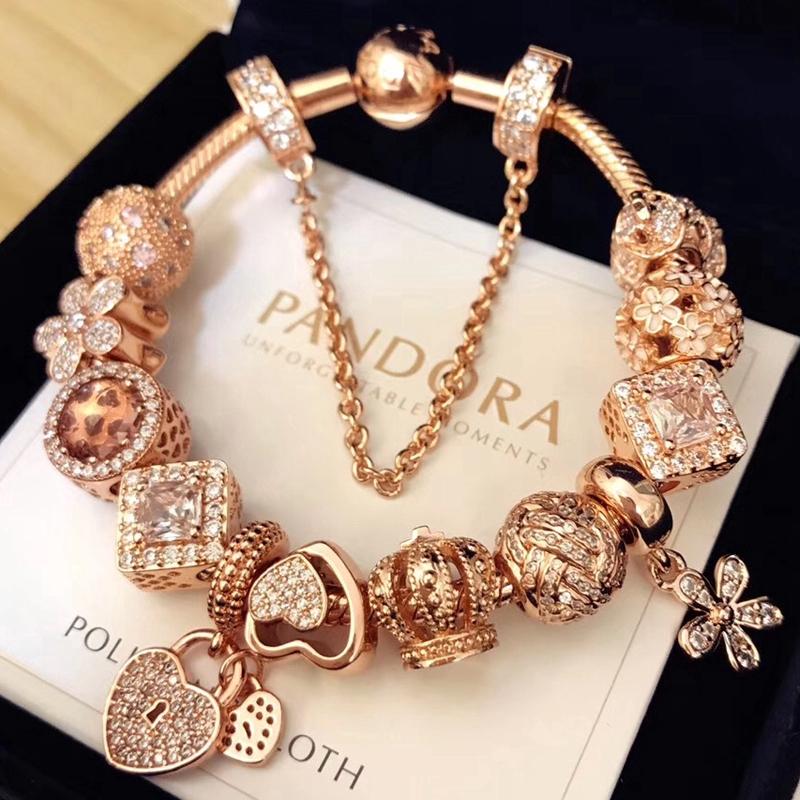 Pandora Bracelet Rose Gold Bracelet Gift Giving Must Preparation Gift Box Package Install Shopee Malaysia