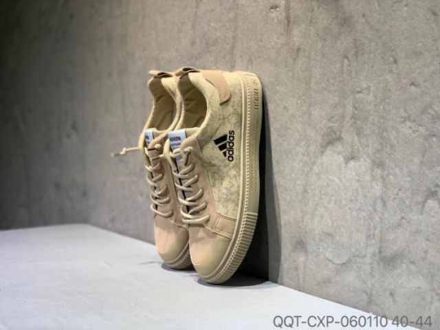 💥PREMIUM💥ADIDAS SHOES LOW TOP CANVAS SNEAKERS FASHION LIGHTWEIGHT - BROWN