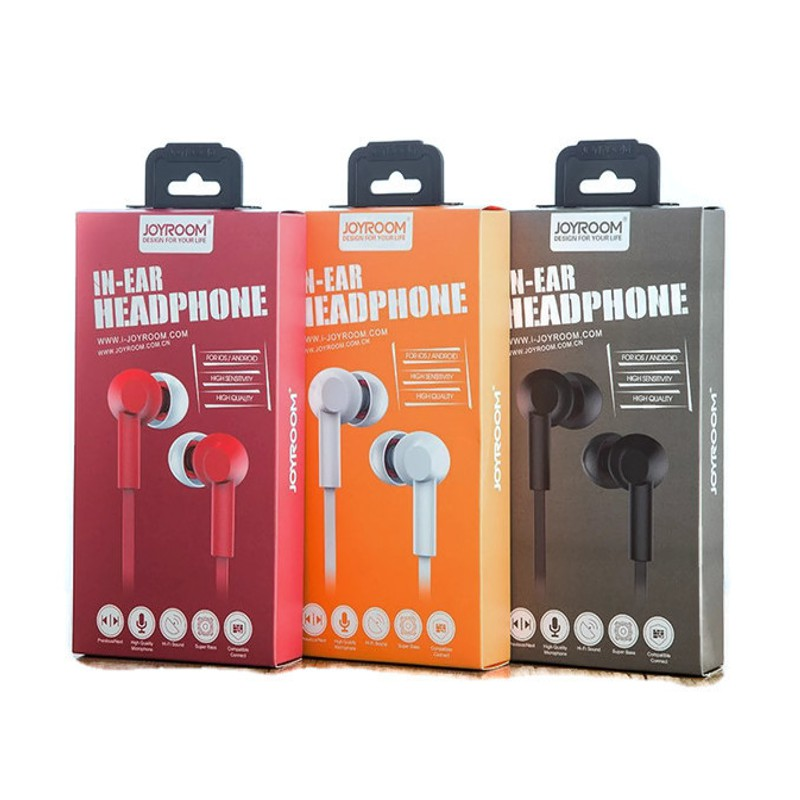 Original JOYROOM JR-E106 3.5mm Plug Stereo Earphone In-ear Headphone with Mic