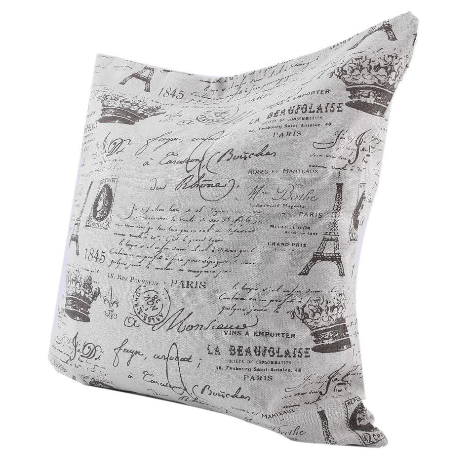 """Eiffel Tower Cushion Cover 18/"""" x 18/"""" 100/% Cotton Decorative Pillow Case Paris"""