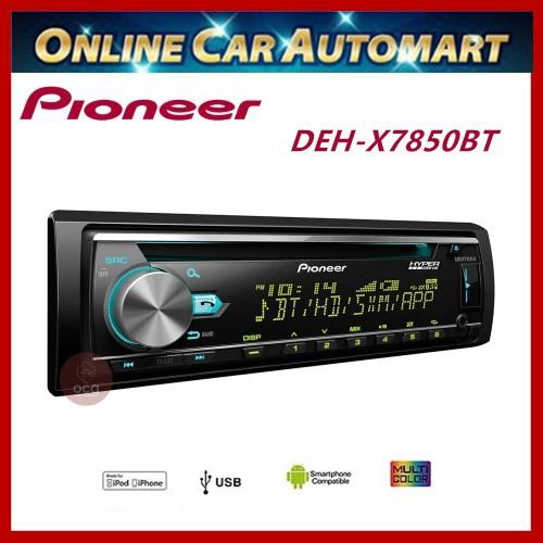 PIONEER Single Din CD Receiver  (DEH-X7850BT)