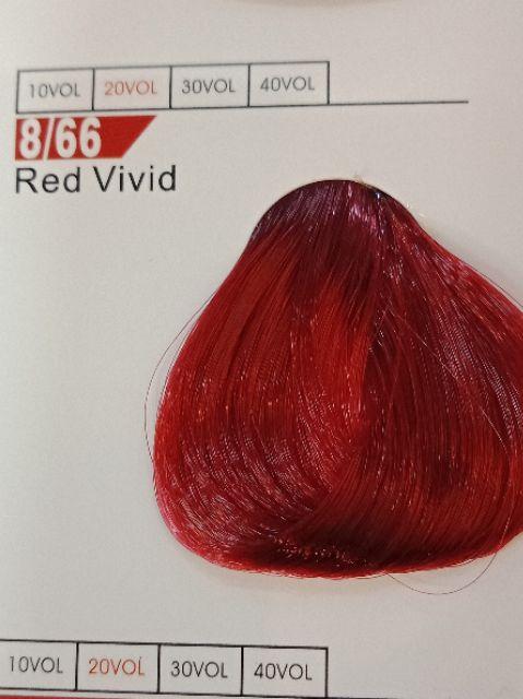 Fabaole color(Red vivid .8/66) 100ml foc peroxide cream 100ml (RVivided .8/66)