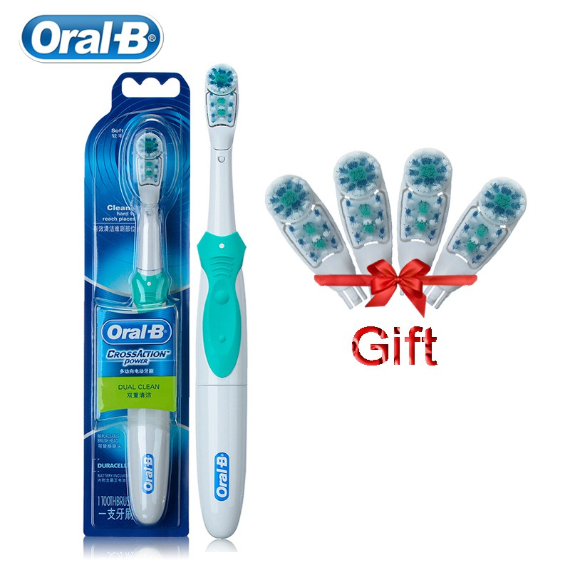 Oral B Electric Toothbrush Cross Action Soft Bristle AA Battery Powered