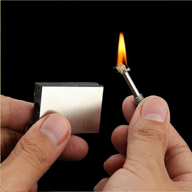 Permanent Metal Matching Box Lighter Instant Survival Camping Flame Fire Starter