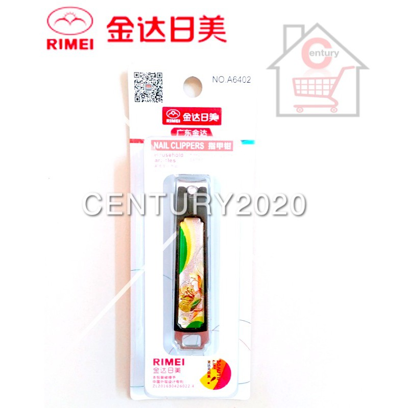 RIMEI Nail Clipper Manicure Care Nail Cutter High Grade Stainless Steel Nail Cutter A6402