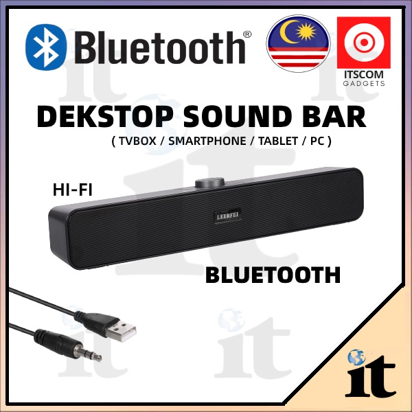 LEERFEI Bluetooth Sound Bar Speakers with USB&AUX Outlet Sound Speaker Bluetooth playback Sound Bar For Mobile Phone/PC