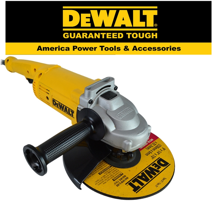 """READY STOCK!! DEWALt D28490-B1 230MM (9"""") 2,000W LARGE ANGLE GRINDER 6,500RPM TRIGGER SWITCH  TOOL EASY USE SAFETY"""