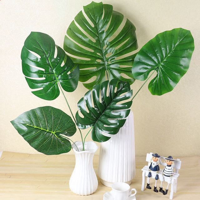 Artificial Leaves for Decoration Monstera , Palm Leave Supersize / Daun Monstera dan Palm Saiz Besar