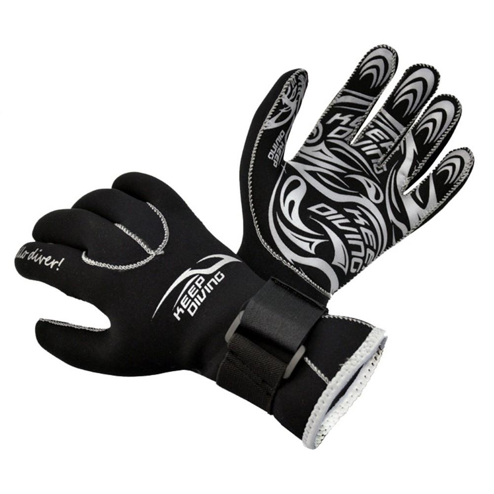 Cold-proof Deep Diving Gloves Anti-Slip Mittens Winter Swim Snorkeling Equipment