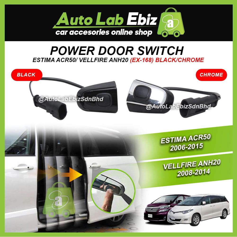 Power Door Switch (Black & Chrome) - Toyota Estima ACR50 2006-2015/Vellfire ANH20