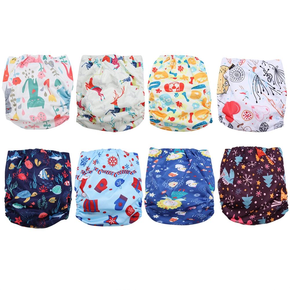 Havasshop 1Pcs Cute Baby Diapers Reusable Washable Nappies Cloth Diaper Print Children Baby Cotton Training Pants Pantie
