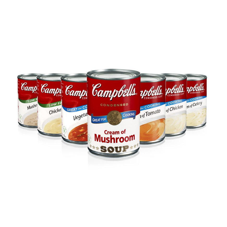 CAMPBELL'S - CONDENSED CORE SOUP (TOMATO / CHICKEN / MUSHROOM / POTAGE) 290G-420G