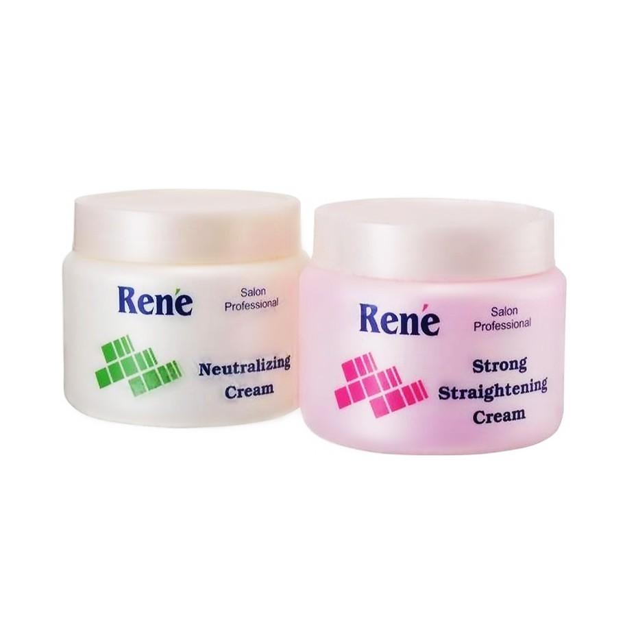 Rene Hair Strong Straightening Cream 500ml + Neutralizer Cream 500ml
