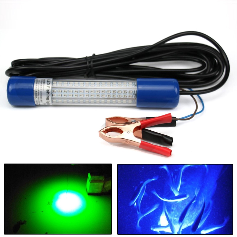 1200LM LED Submersible Fishing Light Underwater Fish Finder Lamp With 5M Cord ST