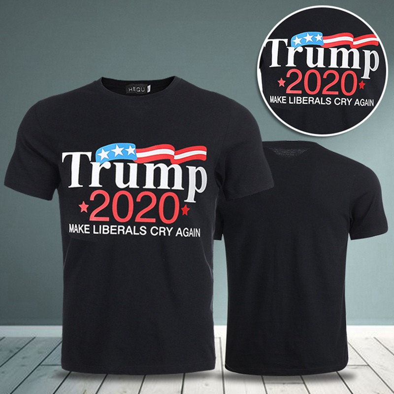 dccc35db601e Men 2020 Make Liberals Cry Again Letter Printed Funny Men T-shirt | Shopee  Malaysia