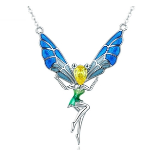 8f57c2b9abd7b Lovely Fairy Crystal Pendant Necklaces for Women Sterling Silver ...