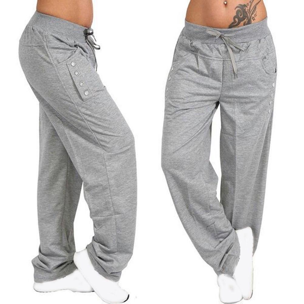 low price sale laest technology Clearance sale Women Casual Loose Fitness Sweatpants Wide Leg Drawstring Pants