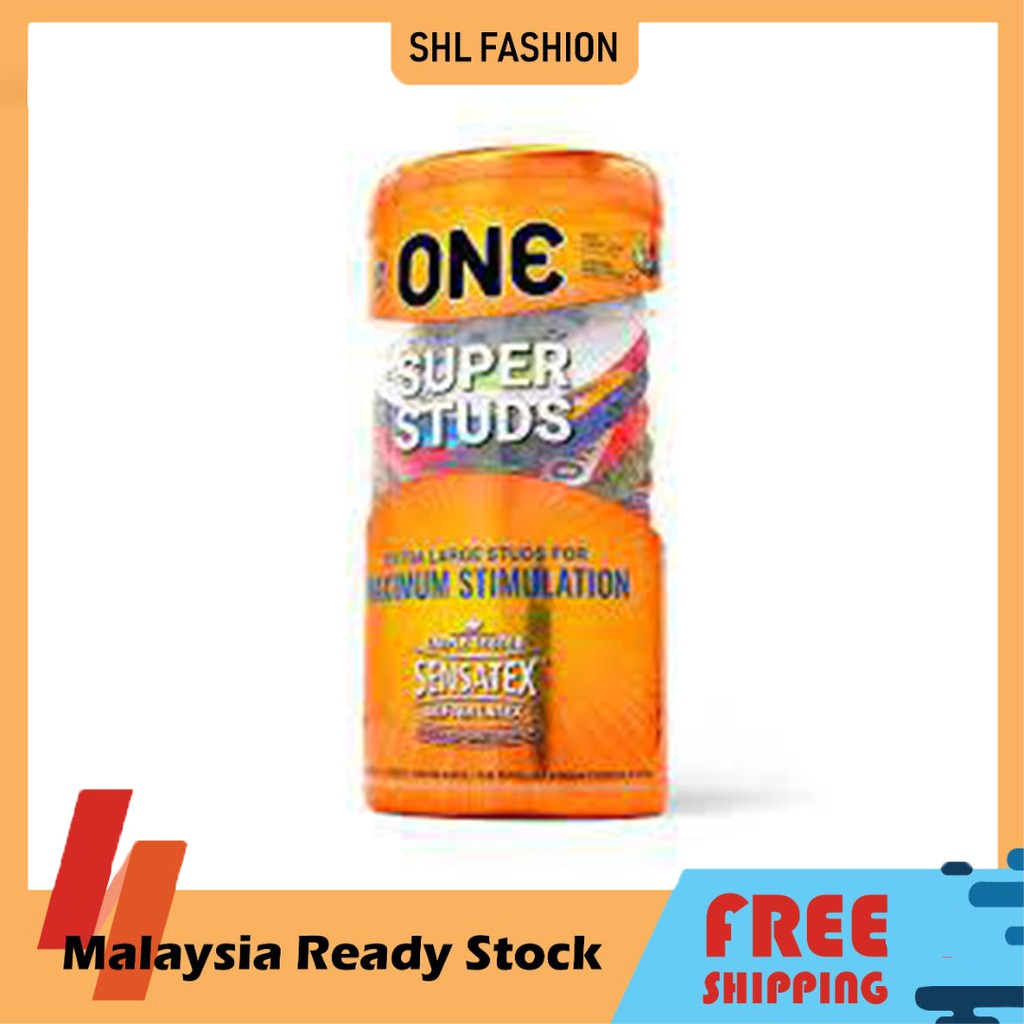 ONE Condoms Super Studs 12pcs Kondom SHL Ready Stock 安全套 避孕套
