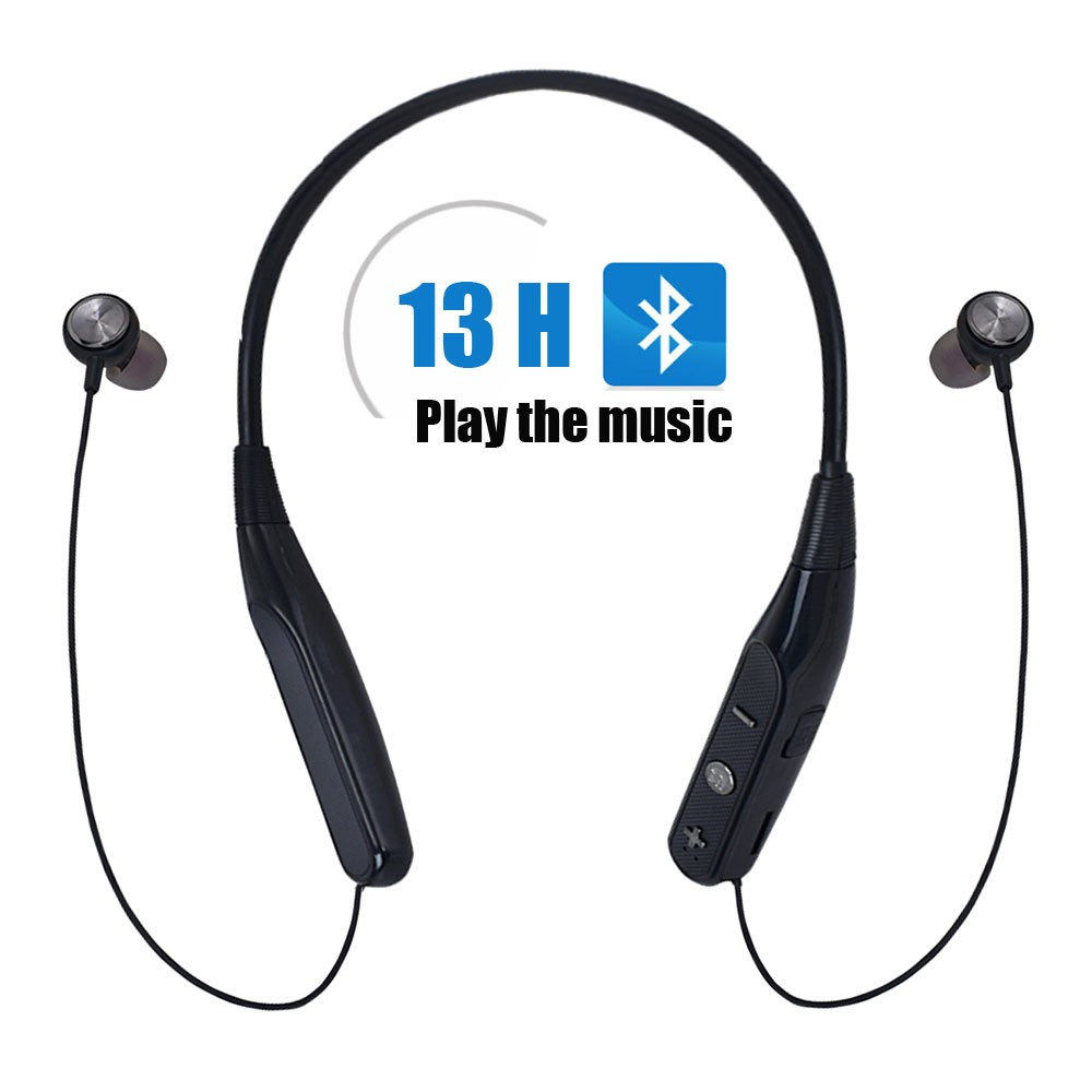 Wireless Headset Neck-Mounted Earbuds Stereo support TF Card Bluetooth  Earphone Hung Around Neck