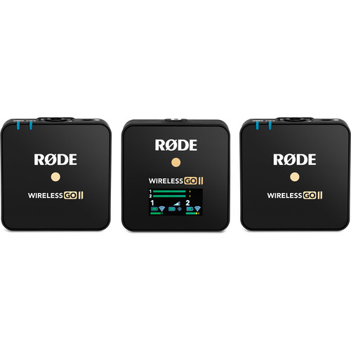 READY STOCK Rode Wireless GO II 2-Person Compact Digital Wireless Microphone System/Recorder (2.4 GHz, Black)