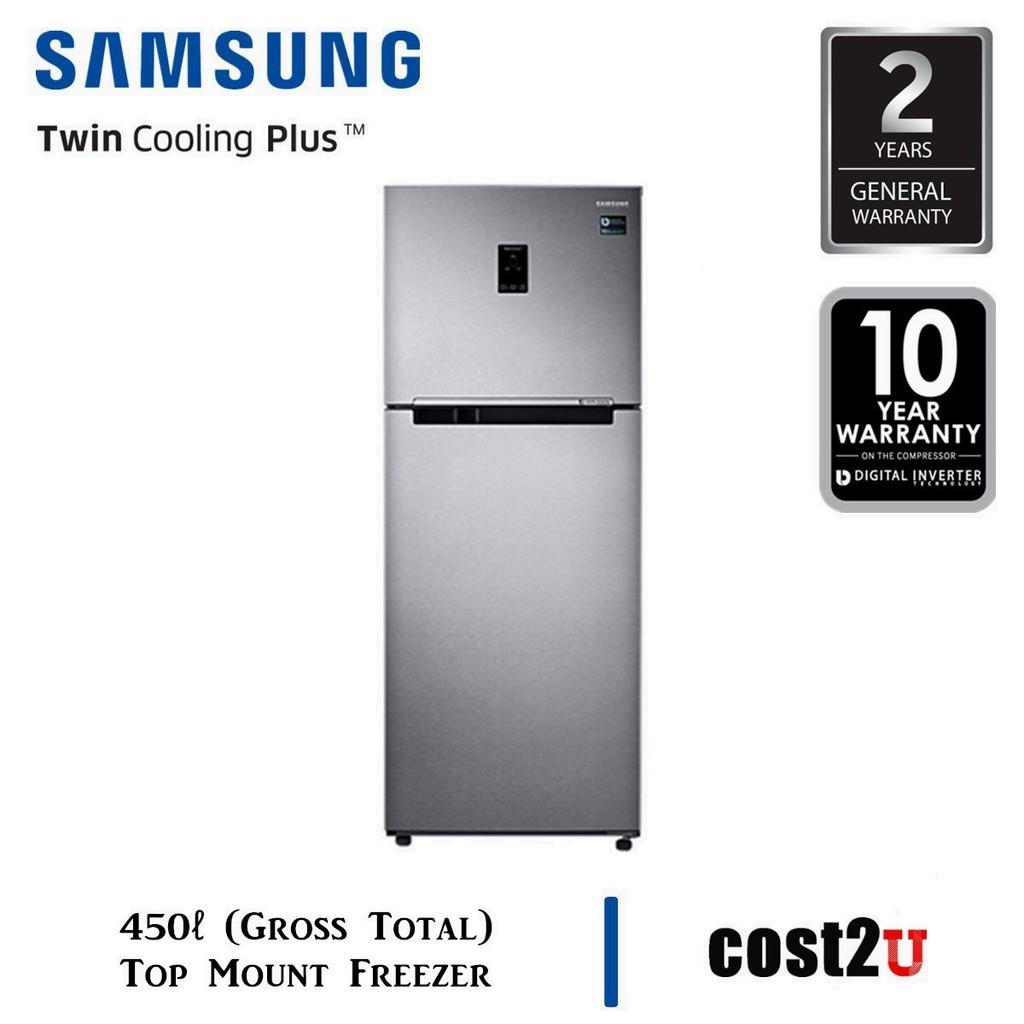 SAMSUNG DIGITAL INVERTER TWIN DOOR FRIDGE 450L - EZ CLEAN STEEL   RT35K5562SL/ME