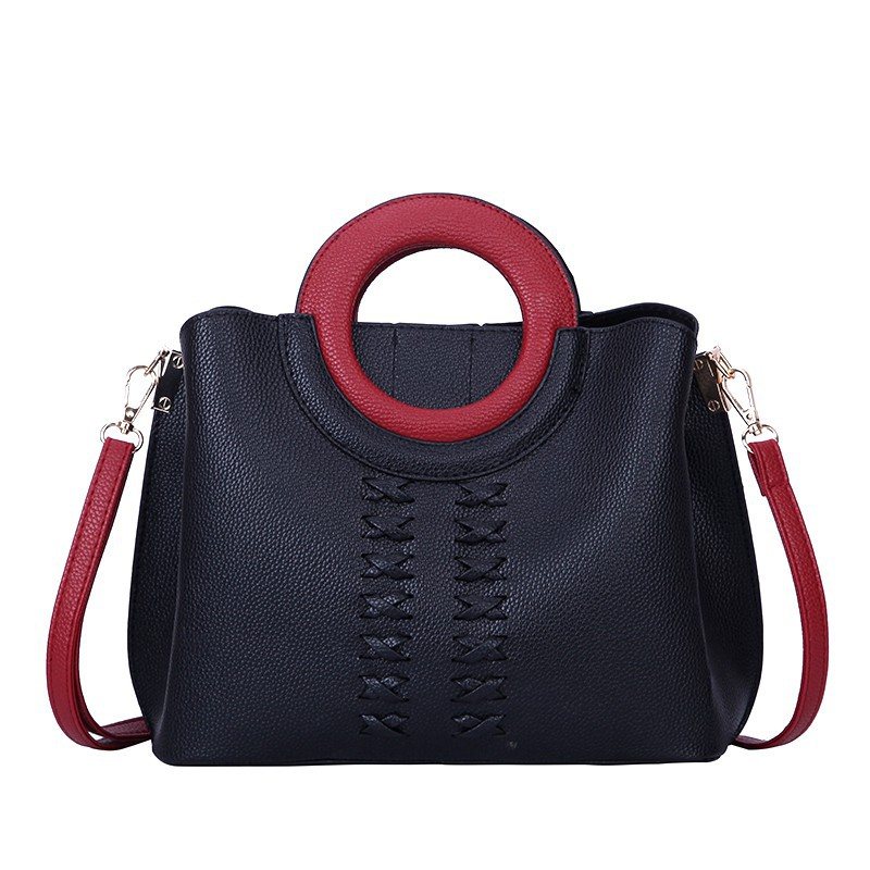 599206c92c8 Women Shoulder Bag Zipper Cross Body Tote Bags PU Leather