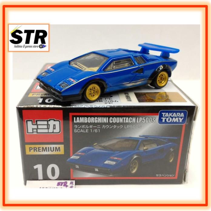 Tomica Premium No 10 Lamborghini Countach Lp500s Blue Red Set