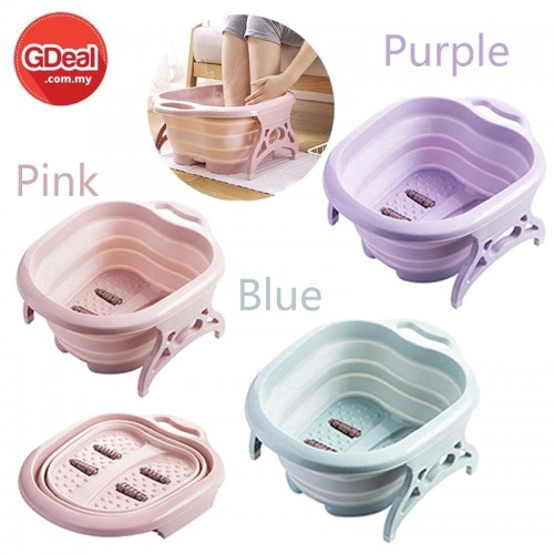 GDeal Foot Massage Bucket Foot SPA Chinese Health Care Foot Bath Foldable