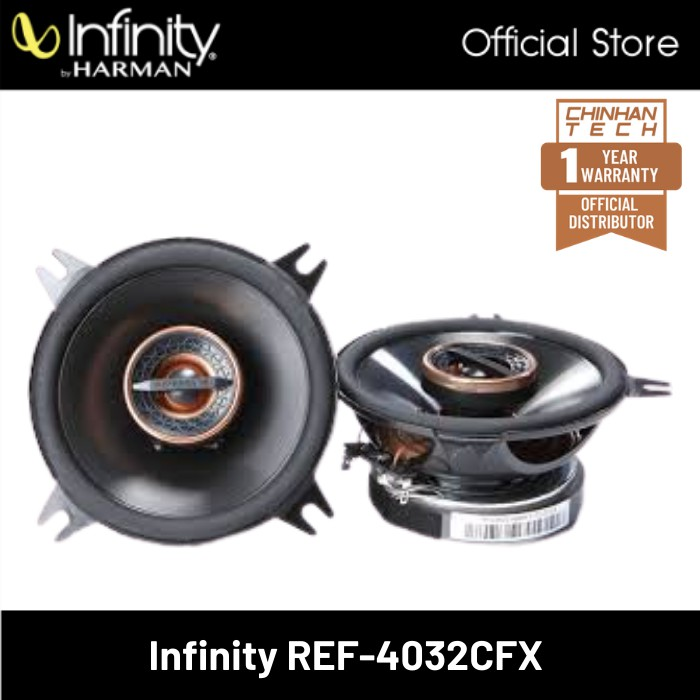"""Infinity Reference REF-4032CFX 4"""" 2-Way Car Speakers"""