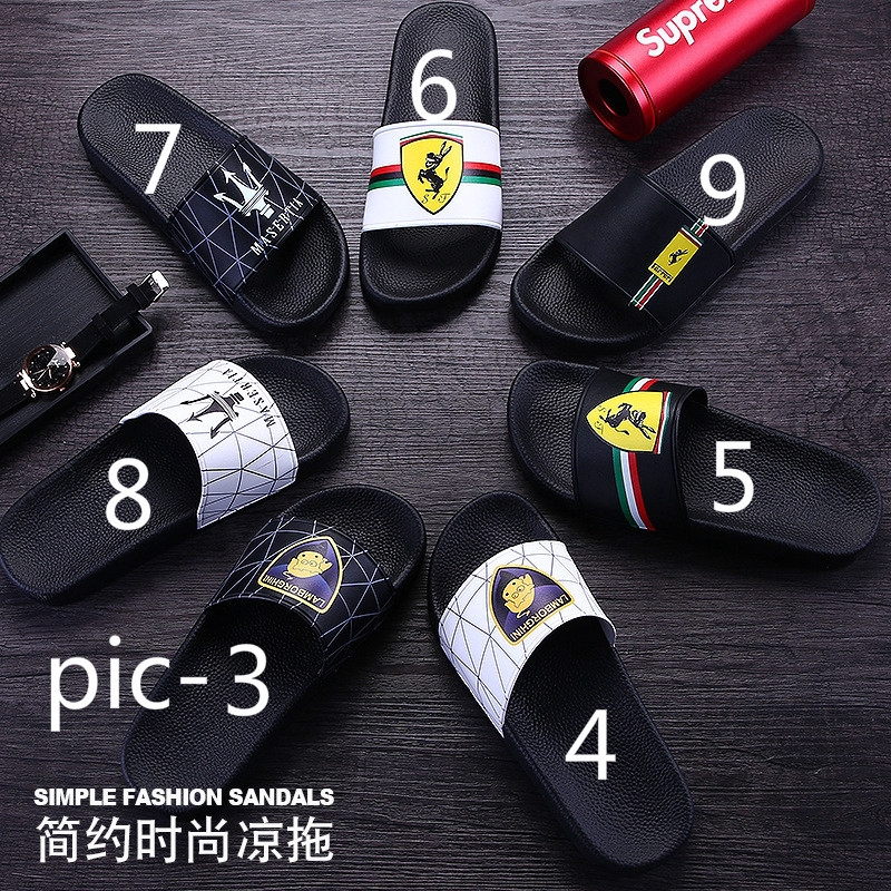 Slippers Men's Fashion Outdoor Beach Slip Soft Slippering Bottom Sandals Yybf76g