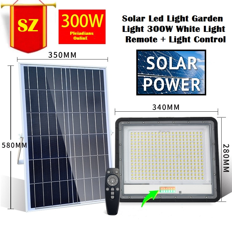 [ READY STOCK ]  Solar HD 1080P Solar WiFi IR Bulllet Security IP Flood Light Camera Motion Sensor Detection Pelita Lampu