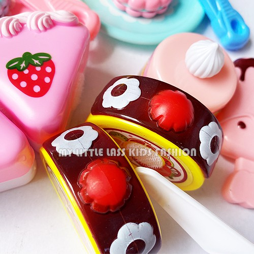 Pretty Sweet Dessert Shop Cake Bread Ice-cream High Tea Cooking Pretend Play Toys for Girls