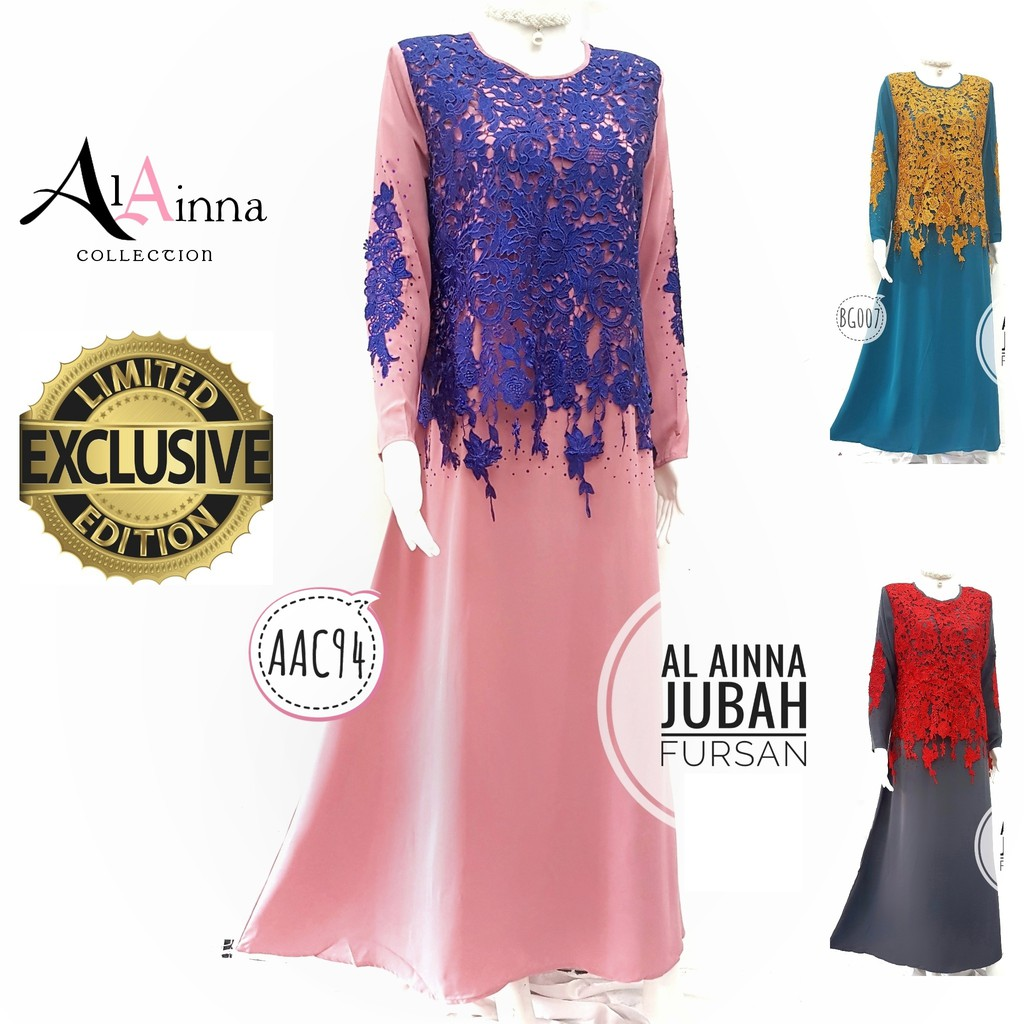 Fashion Denim Jubah Dress With Side Pleated (Including Shawl ... 83ea74df31