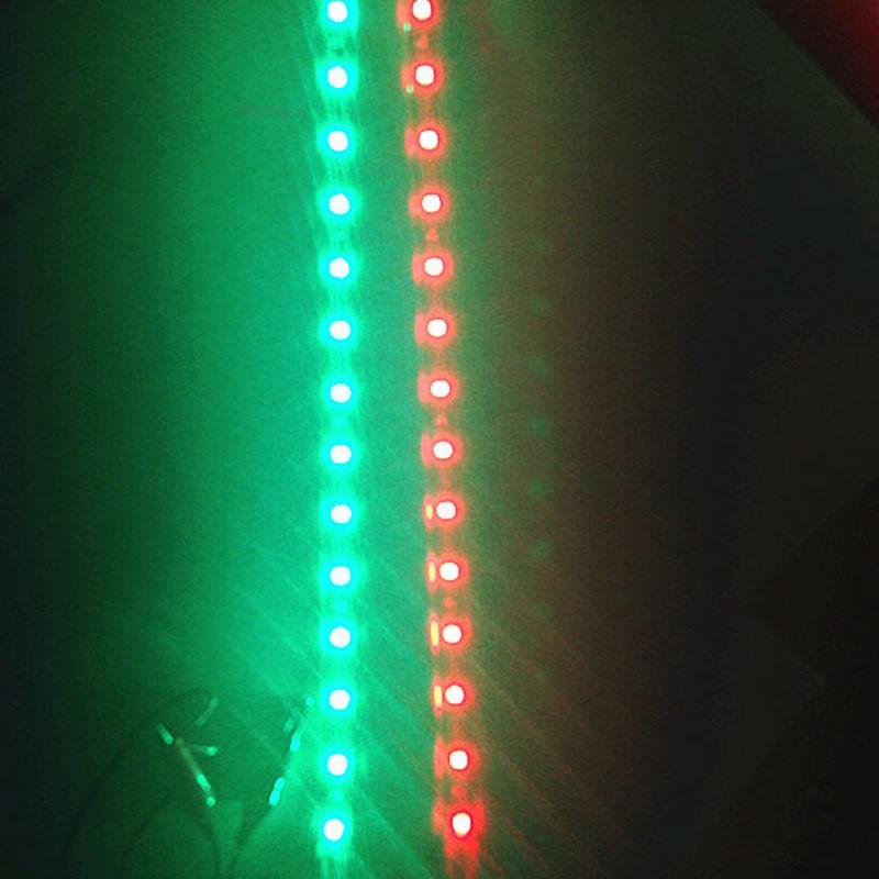 2x 30cm Waterproof Red Green Navigation LED Light Strip for Boat Marine Car 12V