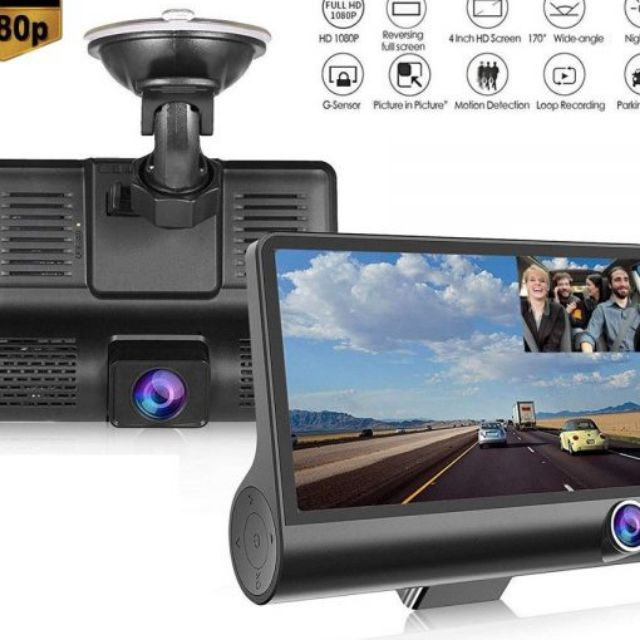 "4"" Full HD 1080P Car DVR Dash Cam"