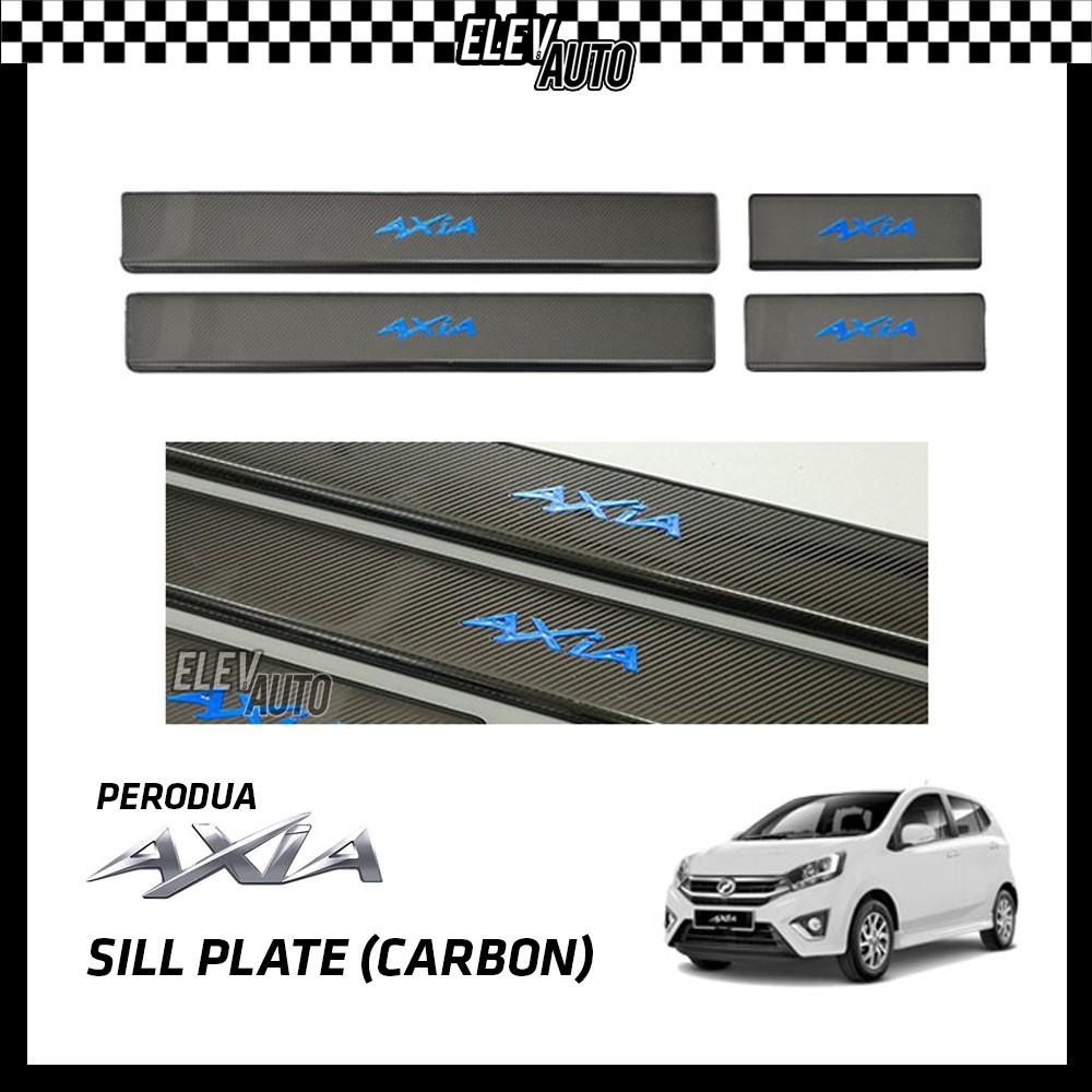Perodua Axia Carbon Fiber Door Side Sill Step Plate